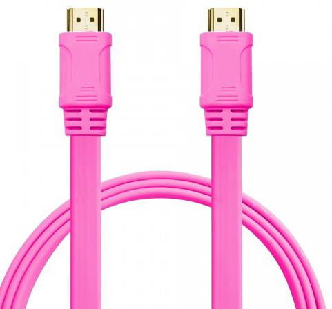 Кабел No brand HDMI - HDMI M/М, 3m, Flat, 3D, Full HD - 18171
