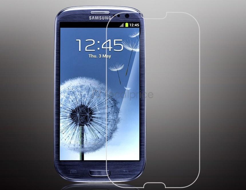 Стъклен протектор No brand Tempered Glass за Samsung Galaxy S3, 0.3 mm, Прозрачен - 52027