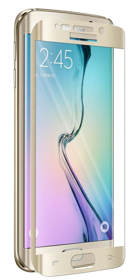 Протектор дисплей No brand за Samsung S6 Edge, Силикон, Златен - 52140