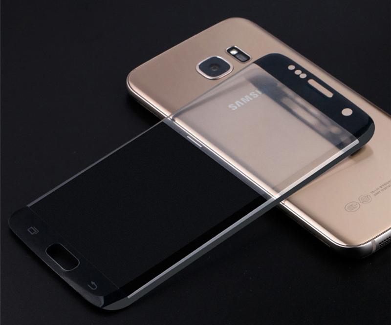 Стъклен протектор за целия дисплей, Remax Тop, за Samsung Galaxy S7 Edge, 0.3 mm, Черен - 52223