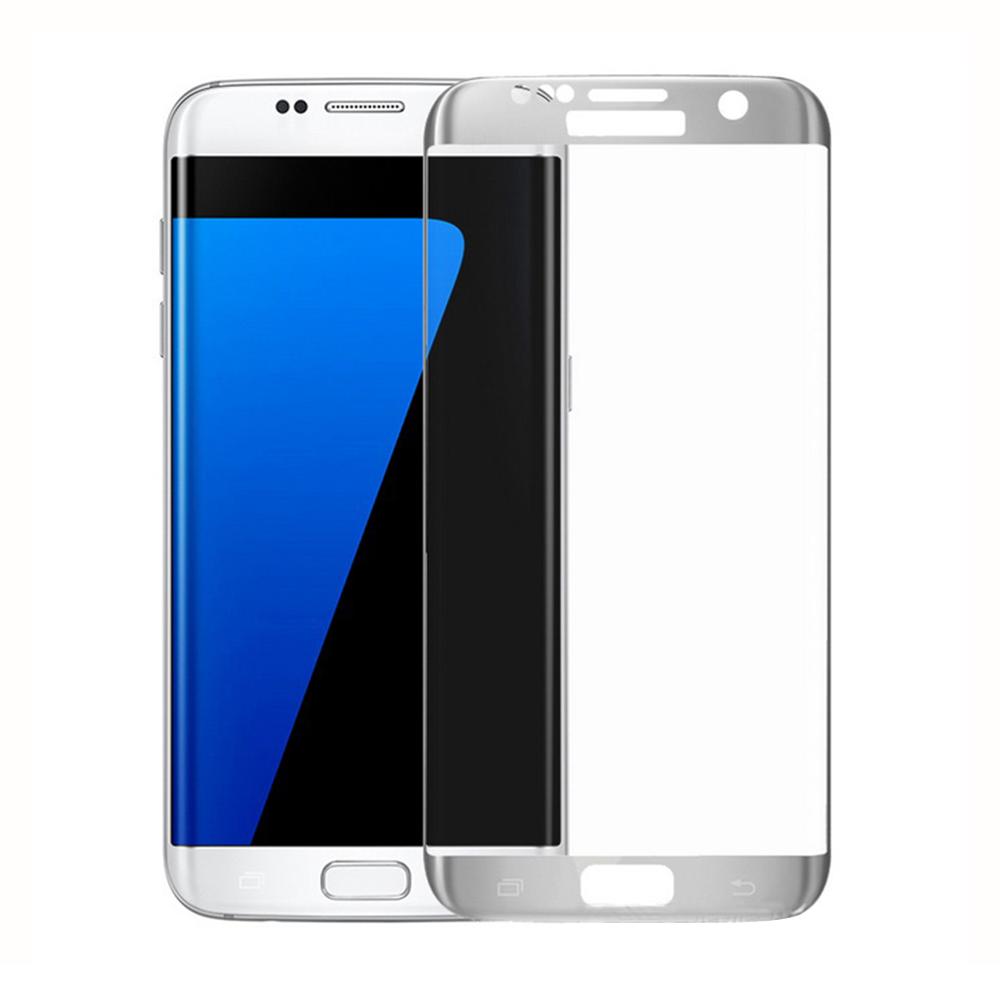 Стъклен протектор за целия екран, No brand, За Samsung Galaxy S7 Edge, 0.3mm, Сребрист - 52286
