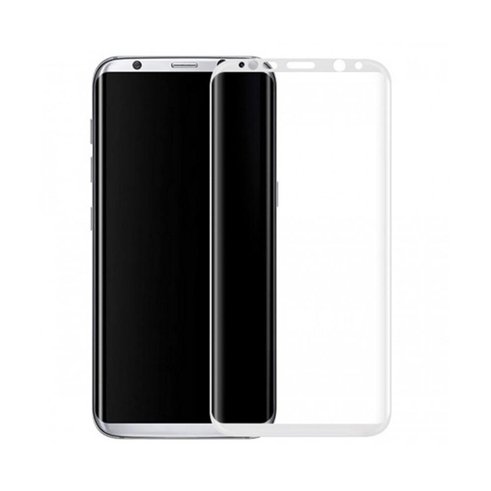 Стъклен протектор за целия екран, No brand, За Samsung Galaxy S8, 0.3mm, Бял - 52288