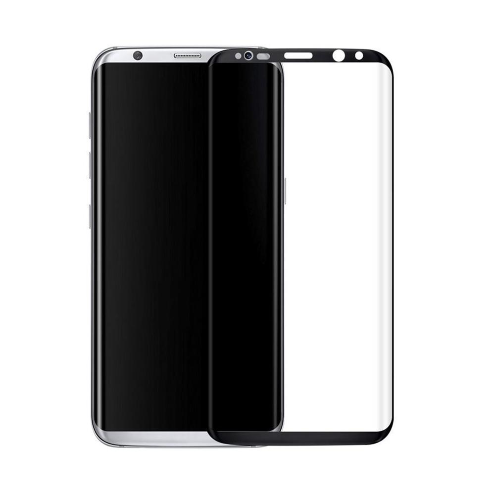 Стъклен протектор за целия екран, No brand, За Samsung Galaxy S8, 0.3mm, Черен - 52289