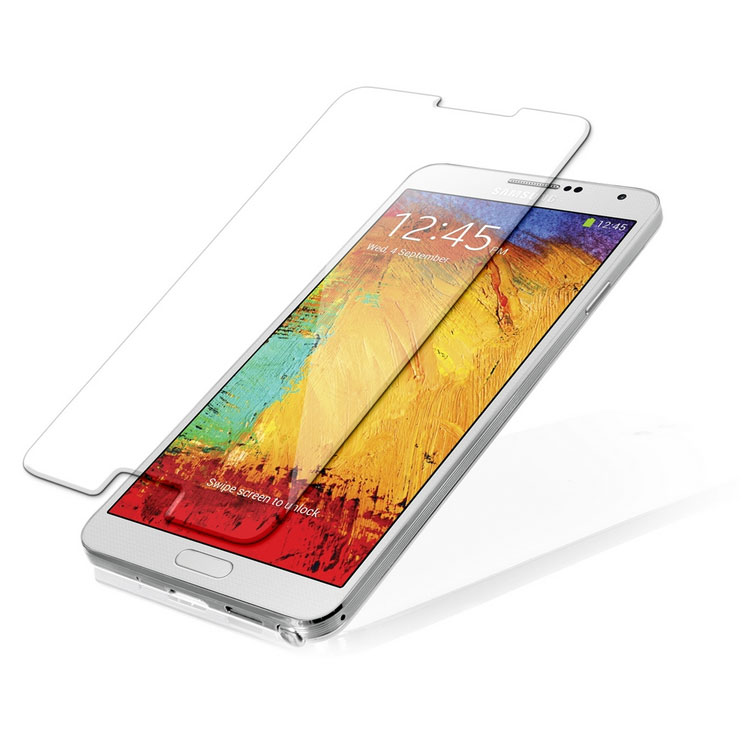 Стъклен протектор No brand Tempered Glass за Samsung Note 3, 0.3mm, Прозрачен - 52076