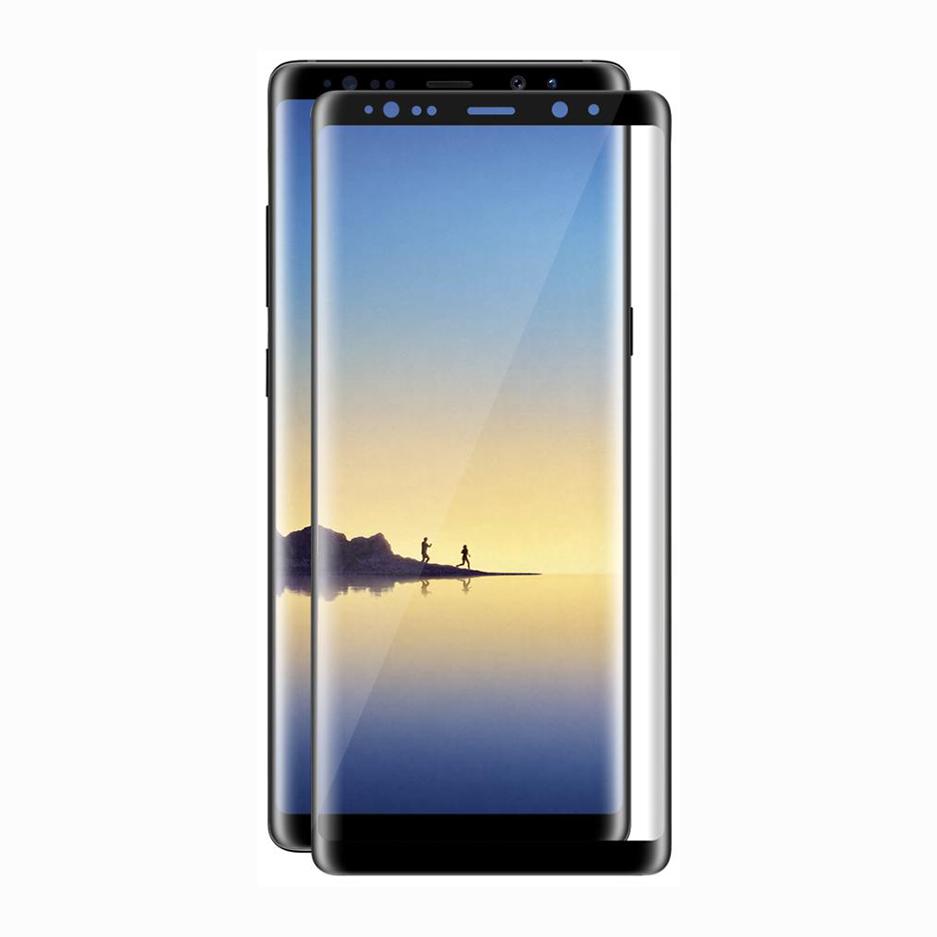 Стъклен протектор, No brand, За Samsung Galaxy Note 8, Full 3D, 0.3mm, Черен - 52350