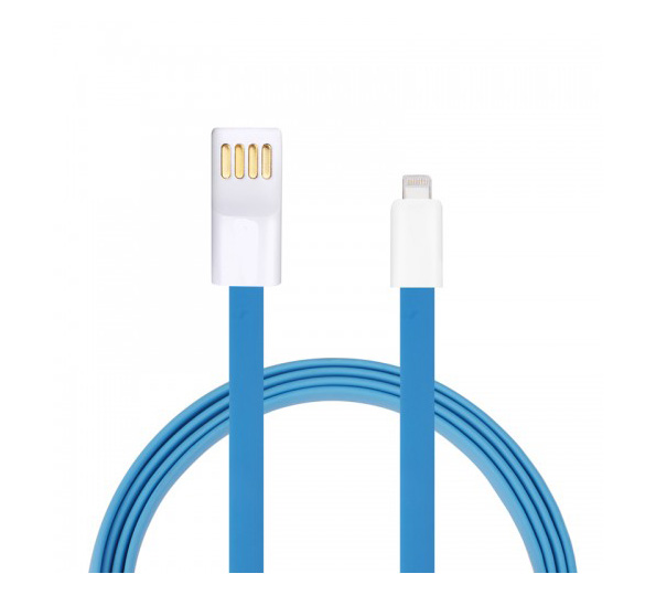 Кабел за данни No brand Lightning - USB iPhone 5/5s: 6,6S / 6plus,6S plus, IPAD4/Mini 1.2м, Flat - 14248