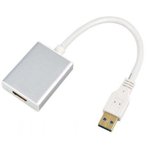 Преходник DeTech USB3.0/M към HDMI/F - 18230