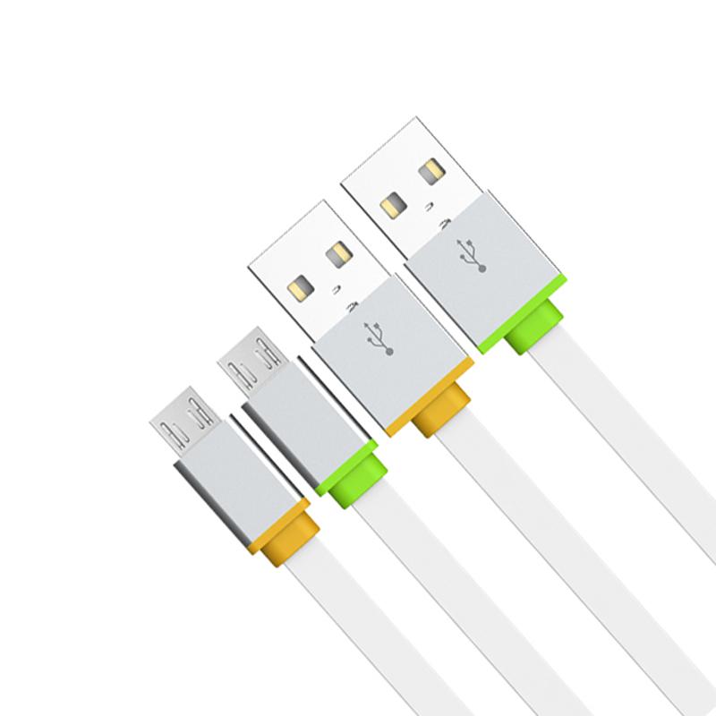 Кабел за данни, EMY MY-444, Micro USB, 1.0м, Бял - 14455