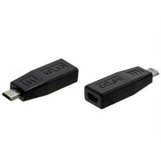 Преходник DeTech Micro USB M към Micro USB F, Черен - 17135