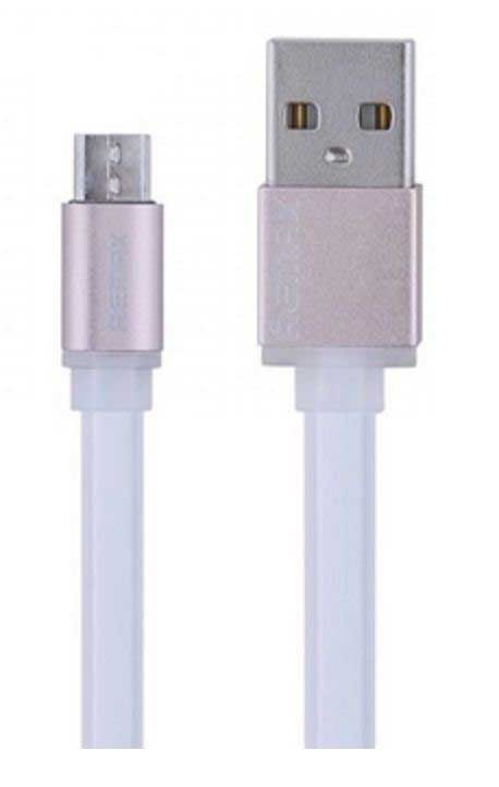 Кабел за данни micro USB Flat, Remax RE-005m, 1м, Бял - 14362