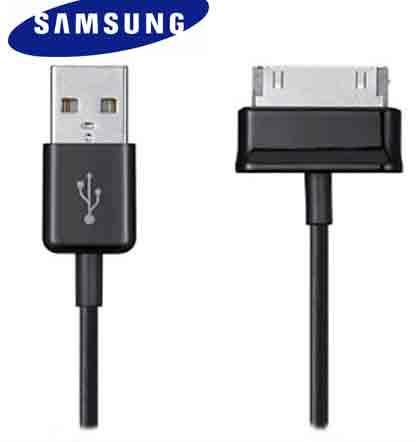 Кабел за данни USB Samsung galaxy Tab,Черен, 1m - 14113