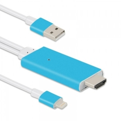 Кабел, No brand, iPhone 5/6/7 (Lightning) към HDMI, 1.5м - 18294
