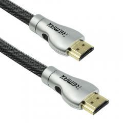 Кабел HDMI - HDMI M/М, Remax RC-038h, 3.0m, С оплетка - 18283