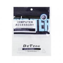 Кабел DeTech HDMI - VGA, 1.8m, Flat, с аудио кабел -18229
