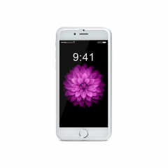 Стъклен протектор за целия дисплей, Remax Honor, за iPhone 6/6S Plus, С Метална лайстна, 0.3 mm, Сребрист - 52312