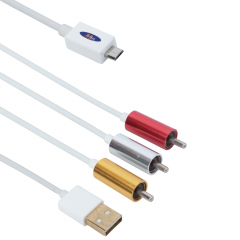Кабел MHL (micro USB) - AV 3RCA, USB, No brand, 1.8m - 18231