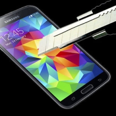Стъклен протектор No brand Tempered Glass за Samsung Galaxy  S6, 0.3mm, Прозрачен - 52073
