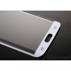 Протектор дисплей No brand за Samsung S6 Edge, Силикон, Бял - 52142