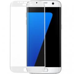 Протектор дисплей No brand за Samsung S7, Силикон, Бял - 52177