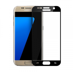 Стъклен протектор за целия дисплей, No Brand, за Samsung Galaxy S7, 0.3mm, Черен - 52298