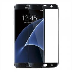 Стъклен протектор за целия екран, No brand, За Samsung Galaxy S7 Edge, 0.3mm, Черен - 52284