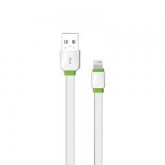 Кабел за данни, EMY MY-445, за iPhone 5/6/7 , 1.0м, Бял - 14448