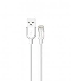 Кабел за данни iPhone Lighting, Remax Souffle RC-031i, 1м, Бял - 14353