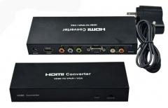 Конвертор No brand  от HDMI към VGA+YPBPR с аудио  - 18262