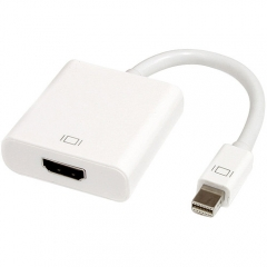 Преходник DeTech Mini DP M - HDMI F, 10см, Бял - 18154