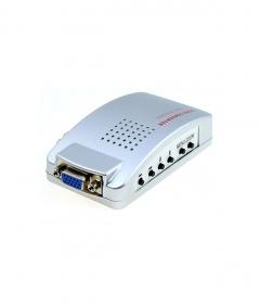Конвертор, No brand, VGA към AV/S-Video+VGA, Сребрист - 18299