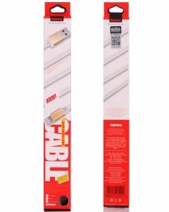 Кабел за данни iPhone Lighting Flat, Remax RE-005i, 1м, Бял - 14361