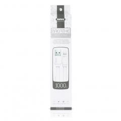 Кабел за данни iPhone Lighting, Remax Breathe RC-029i , 1m, Бял - 14346