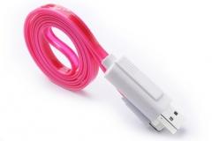 Кабел за данни No brand Lightning - USB, iPhone 5/5s: 6,6S / 6plus,6S plus,Ipad4 /Mini, Светещ - 14254