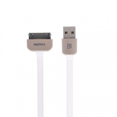 Кабел за данни, iPhone 4/iPad , Remax KingKong, 1.0м, Бял - 14430