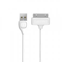 Кабел за данни, Remax RC-050i Lesu, iPhone 4 30 Pin, 1.0м, Бял - 14818