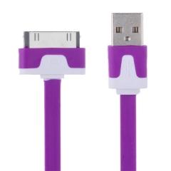 Кабел за данни USB Lightning за iPhone 4/4s, flat - 14047
