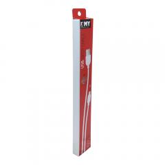 Кабел за данни, EMY MY-446, Micro USB , 1.0м, Бял - 14487