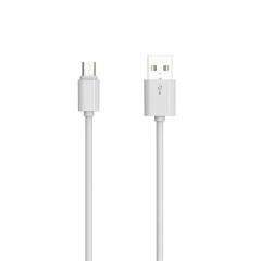 Кабел за данни, LDNIO, SY-03, Micro USB, 1.0m, Бял - 14492