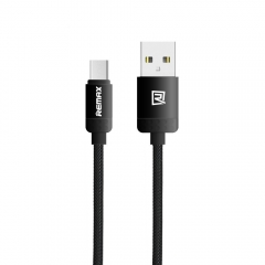 Кабел за данни, Micro USB , Remax Lovely, 1.0м, Черен - 14427