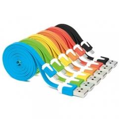Кабел за зареждане No brand USB - micro USB, Flat  - 14221