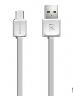 Кабел за данни micro USB, Remax, 1м, Бял - 14359