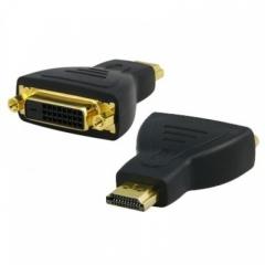 Преходник DeTech DVI F - HDMI, Черен - 17101