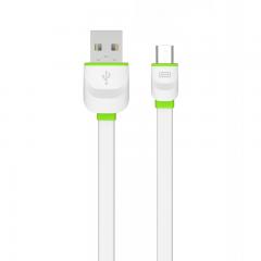Кабел за данни Ldnio  LS13S, с Micro USB, 2.1A, 1m, Бял - 14306