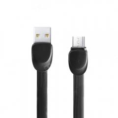 Кабел за данни micro USB, 1м, Remax Shell RC-040m, Черен, Бял - 14339