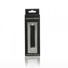 Кабел за данни No brand USB - micro USB, Гъвкав, Черен - 14216