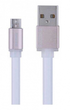 Кабел за данни micro USB Flat, Remax RE-005m, 1м, Бял - 14362