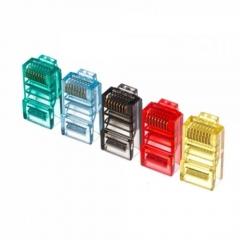 Букси DeTech RJ-45, 30 бр в пакет, Различни цветове - 17138