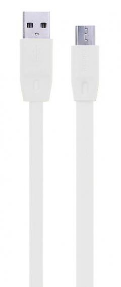 Кабел за данни micro USB Flat, Remax Full Speed, 2м, Черен, Бял - 14350