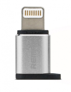 Преходник Micro USB към Lightning, Remax RA-USB2, сребрист - 17159