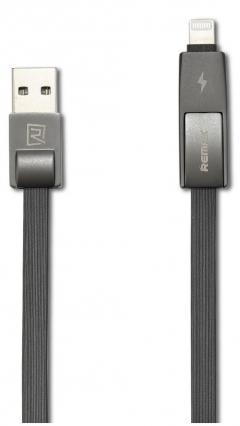 Кабел за данни 2 в 1, micro USB  Iphone Lighting, Remax Strive RC-042t, 1м, Черен - 14335